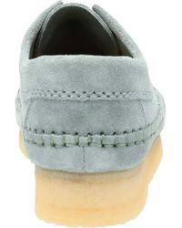 Clarks - Blue Weaver Moc Toe Shoe - Lyst