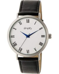Simplify - Metallic The 2900 Leather-band Watch for Men - Lyst