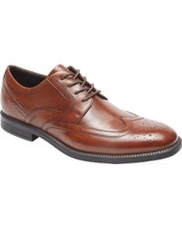 Rockport - Brown Dressports Business Wing Tip Oxford for Men - Lyst