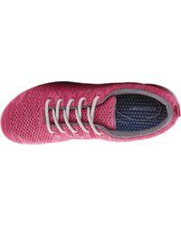 Rockport - Pink Raelyn Knit Tie Sneaker - Lyst