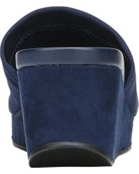 Carlos By Carlos Santana - Blue Debbi Wedge Sandal - Lyst