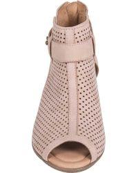 Earth | Pink Intrepid Mid Heel Sandal | Lyst