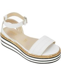 Summit White Mountain - White Laney Ankle Strap Sandal - Lyst