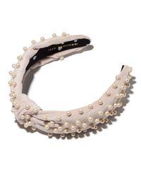 Lele Sadoughi Natural Pearl Headband Nude