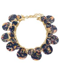 Lele Sadoughi - Blue Twilight Disk Necklace - Lyst