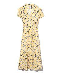 Harley Viera-Newton - Yellow String Of Hearts Charlotte Ruffle Dress - Lyst