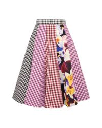 Christopher Kane | Multicolor Gingham Printed A-line Skirt | Lyst