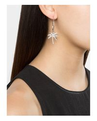 Yvonne Léon | Multicolor White Gold Palm Tree Charm Earring | Lyst