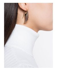 Noor Fares - Metallic Gold Fly Me To The Moon Earrings - Lyst