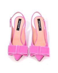 Rochas - Slingback Pump In Hot Pink Velvet - Lyst