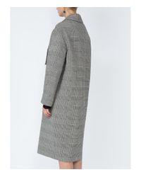 Stella McCartney - Gray Grey Asymmetric Button Coat - Lyst