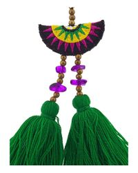 Shashi - Green Multicolor Double Tassel Drop Earring - Lyst