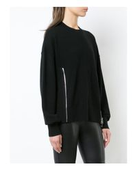 Alexander Wang Black Zip Detailed Jumper