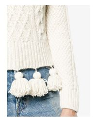 Rosie Assoulin - Natural Cream Pom-pom Sweater - Lyst