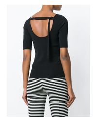 Proenza Schouler - Black Scoop Neck Top - Lyst