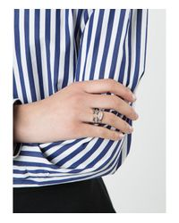 Delfina Delettrez - Blue Face Ring - Lyst