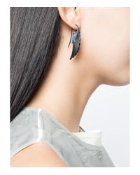 Noor Fares - Sky Blue Fly Me To The Moon Wing Earrings - Lyst
