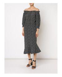 Saloni - Black 'grace' Dress - Lyst