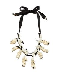 Lele Sadoughi - Black & White 'shell Collector' Necklace - Lyst