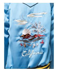 COACH - Blue Reversible California Puffer Jacket - Lyst
