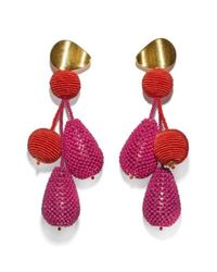 Lizzie Fortunato - Red & Pink Meteor Earrings - Lyst