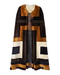 Gabriela Hearst - Multicolor 'mira' Shearling Reversible Coat - Lyst
