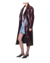 Tibi - Multicolor Rouge Patent Coated Wool Oversized Trench Coat - Lyst