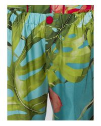 For Restless Sleepers - Green Tropical Print Trouser - Lyst