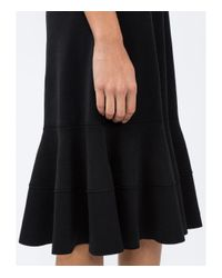 Proenza Schouler - Black One Shoulder Ruffle Dress - Lyst