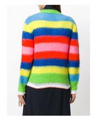MSGM Multicolor V-neck Stripe Sweater