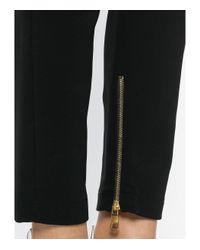 Balmain Black Cropped Skinny Trousers