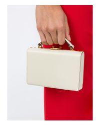 Mark Cross - White Mini Ivory Grace Box Tote Bag - Lyst