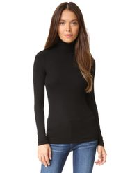 Three Dots - Black Long Sleeve Turtleneck - Lyst