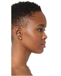 Adina Reyter - Metallic Wide Huggie Hoop Earrings - Lyst