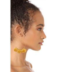 Chan Luu | Metallic Pom Pom Hoop Earrings | Lyst