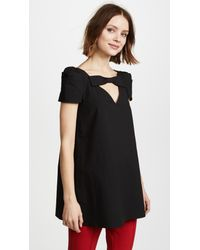 Boutique Moschino - Black Bow Detail Blouse - Lyst