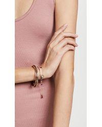 Rebecca Minkoff - Metallic Braided Cuff Bracelet - Lyst