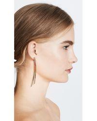 Joanna Laura Constantine   Metallic Crisscross Earrings   Lyst