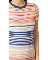 Alice + Olivia - Blue Hayden Striped Dress - Lyst
