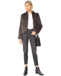 June - Multicolor Knitted Fur Bomber Jacket - Lyst
