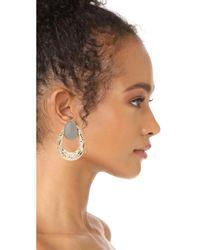 Alexis Bittar - Metallic Open Hammered Earrings - Lyst