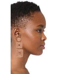 Kenneth Jay Lane - Multicolor Champagne Square Earrings - Lyst