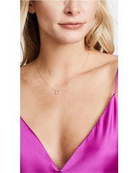Adina Reyter - Metallic 14k Gold Scattered Diamond Small Circle Necklace - Lyst