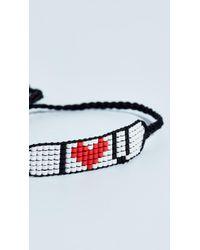 Venessa Arizaga - Black I Love You Friendship Bracelet - Lyst