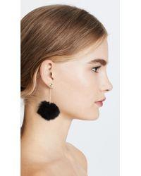 Kate Spade - Black Bow Pouf Earrings - Lyst