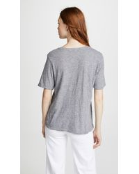 Monrow - Gray Vintage Jersey Basic Oversized Tee - Lyst