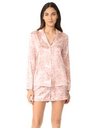 Stella McCartney - Pink Poppy Snoozing Short Pyjama Set - Lyst
