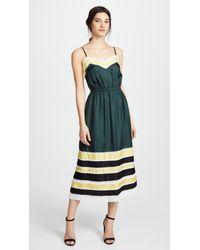 Robert Rodriguez - Green Silk Slip Dress - Lyst