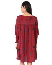 HATCH - Red Ella Smocked Dress - Lyst