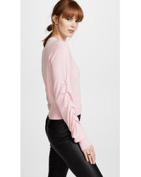 Edition10 - Pink Cropped Sweater - Lyst